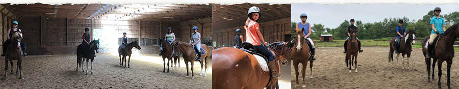Horse Trail Riding at Summer Camp